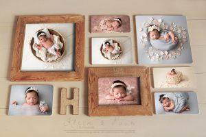 Newborn fotografie, wall art, uniek product voor aan de muur zwangerschapsfotografie